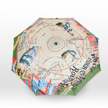 Navigation Map Umbrella The World Map Canvas Umbrella Creative Sailing Sun Rain Uv Pencil Umbrella Creative Umbrella