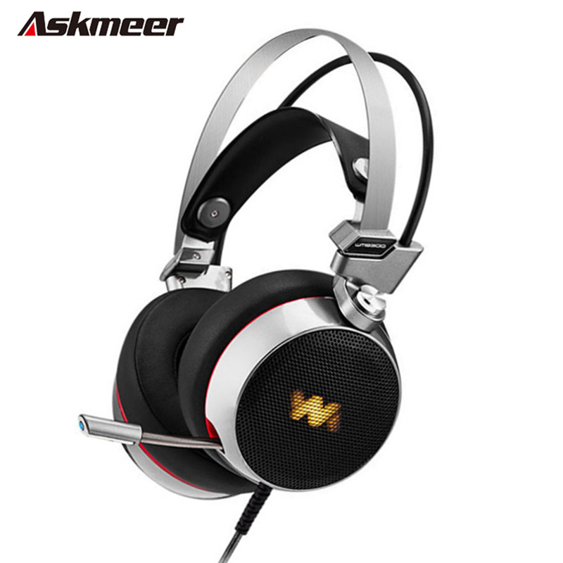 New Askmeer Deep Bass Stereo Gaming Headset Over-ear Computer Gaming Headphones with Microphone Breathing LED Light For PC Gamer<br><br>Aliexpress