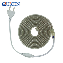 5050 LED Strip AC220V Flexible Light 60leds/m Waterproof Led Tape LED Light With Power Plug 1M/2M/3M/5M/6M/8M/9M/10M/15M/20M