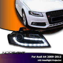 NOVSIGHT New 2pcs/set Auto Car LED Projector Headlights DRL Fog Light Lamp Turn Signal Kit For Audi A4 2009 2010 2011 2012(China)