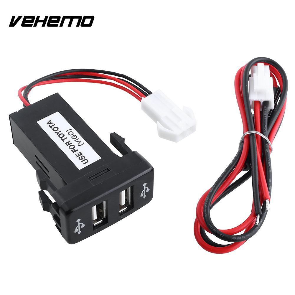 Car 12V 2.1A Dual USB Port Socket Charger For Toyota VIGO Phone CS-270(China (Mainland))