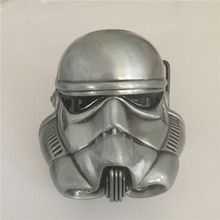 New Movie Star Wars Belt Buckle for Men's 80*79mm Silver Stormtrooper Helmet Metal buckles Fit 4cm Wideth belt Jeans accessories