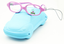 Free Shipping  High Fashion  Glasses Frame Kids PC Material Eyeglass Rubber Hinge Screwless with Kids Accessories Case