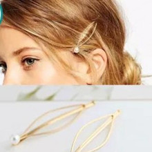 European-style simple atmospheric imitation gold headdress hairpin wild pearl jewelry accessories wholesale