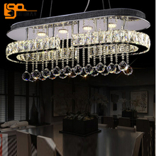 new design LED pendant light crystal pendant lights for dining room modern LED lampe deco for indoor lights