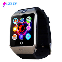 Svelte Q18 Wristwatch with Touch Screen Camera TF Card Bluetooth Camera Fashion Smart Watch for IOS Android Mobile phone(China)