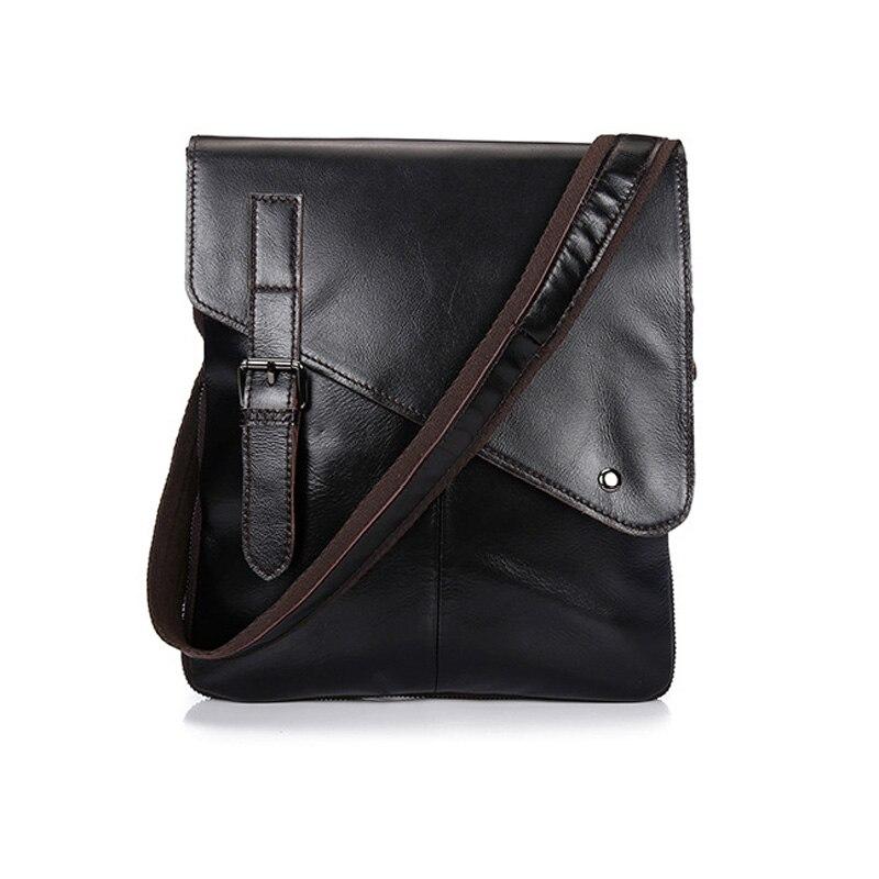 Netweekend Vintage Genuine Leather Shoulder Bag For Men Business Messenger Bags Black And Brown Fashion Leisure Men Bag BF1019<br>