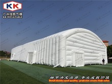 Wind resistant inflatable tent for winter