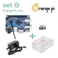 Orange Pi Lite SET8: Orange Pi Lite+ Transparent ABS Case+ Power Supply+ 8 GB Class 10 Micro SD Card Beyond Raspberry