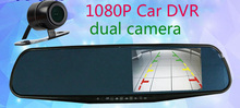 "Dual Lens Car DVR Automobiles Mirror Camera 4.3"" 1080P Vedio Recorder Motion Detection Night Vision G-Sensor Mini DVRs"