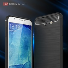 5 Color The Latest Carbon Fiber Bamboo Phone Cover Case For Samsung Galaxy J7 2017 / J7 2016 J710 Luxury Mobile Phone Bag(China)