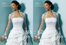 Wholesale - Free shipping!New Lace Bridal shawl Wedding Wraps Jacket Long sleeve bolero Custom Made dress custom