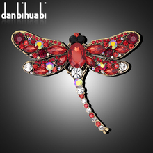 Danbihuabi Brooch vintage dragonfly brooch on the collar uniqhe brooches jewelry fashion animal pins and brooches for women(China)