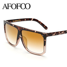 Buy AFOFOO Fashion Sunglasses Flat Top Oversize Square Sunglass Luxury Brand Designer Women Sun glasses Vintage UV400 Ladies Shades for $5.93 in AliExpress store