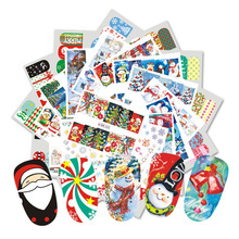 36 Sheets Nail Art Christmas Theme Sets Dazzling Winter Snowflakes Beauty Full Wraps for Nails Decor Water Sticker CHBN649-684(China)