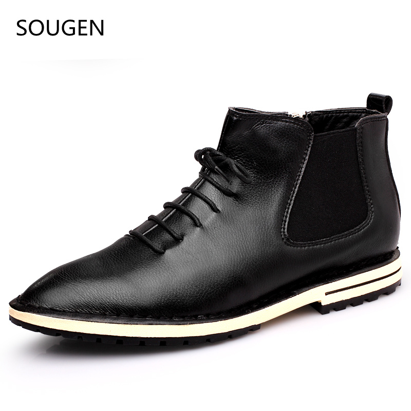 2017 Men Shoes Chelsea Boots 2016 Male Winter Big Size Martin Leathers Suede Buckle Bot Genuine Booties Motorcycle Cowboy For<br><br>Aliexpress
