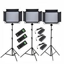 Godox 3x 1000 LED 3300-5600K Wireless Remote Control Video Light Kit LED1000C + 2.8m Stand + Power Adapter for Studio Lighting(China)