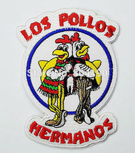 "4.5"" BREAKING BAD Los Pollos Hermanos Staff Uniform TV MOVIE Series Embroidered Iron On Patch TRANSFER MOTIF APPLIQUE Badge"