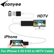 Adapter HDMI Cable For Apple iPhone 6/5/7/6s/Plus/5s iPad Lighting MHL To HDMI Adapter Cable HDTV TV For iPhone 6 HDMI Connector