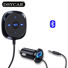 DSYCAR New BC20 Car Bluetooth Kit Handsfree Radio FM Transmitter Support MP3 Player Car charger Car styling for BMW AUDI Lada VW(China)