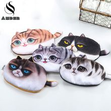 2017 New Cute Cats Zipper Pencils Bags Kawaii 3D Plush Pencil Case Stationery Pouch Makeup Bag Pen Box School Supply BD840