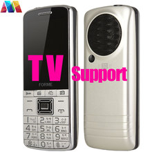 TV Phone! FM! 3D Sound!Big Battery Original Dual SIM Unlocked Cell Phone Mobile FORME TV Phone better than other TV phone(China)