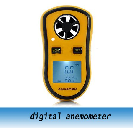 Digital Anemometer Wind Speed Meter Thermometer<br><br>Aliexpress