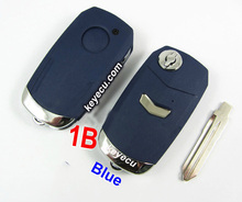 NEW FLIP REMOTE KEYLESS REPLACEMENT CASE 1 BUTTON REMOTE KEY SHELL KEY CASE FOR FIAT BLUE FOB