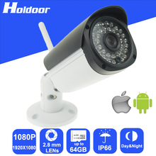 WiFi WebCam 1080P 2.8mm Lens P2P Outdoor video surveillance Camera Motion Detection Alarm Video Record Email Alert Onvif CCTV