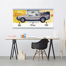 Back To The Future Car Vintage Movie Poster A4 Pop Film Wall Art Picture Modern Home Decor Canvas Painting No Frame Boy Kid Gift(China)