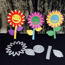 Sun Flower Shaped DIY Cutting Dies for Metal 3D Decorative Photo Album Embossing Template Scrapbooking Stencils for Big Shot(China)