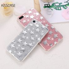 KISSCASE Phone Case For iPhone 7 7 Plus Glitter Star Ultra Thin Coque Shiny Protective PC Back Cover For iPhone 7 7 Plus Fundas