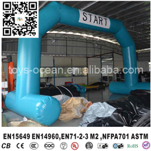 Removable Logo banner advertising inflatable start finish line arch for promotion