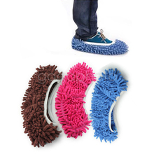 1PC Dust Mop Slipper Lazy Quick House Floor Polishing Cleaning Easy Foot Sock Shoe(China)