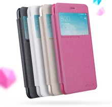 NILLKIN silicone cases for xiaomi redmi 4x flip cover PU+PC Leather+view window hard plastic back cover case for redmi 4x case(China)