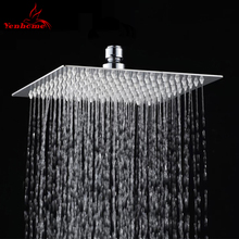 "8"" Stainless Steel Ultra-thin High Pressure Shower Head Top Over Head Water Saving Bathroom Shower Sprayer Rainfall Shower Heads(China)"