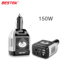 BESTEK 150W Power Inverter Charger Car Power Adapter Converter DC AC Portable Dual USB Port Car Charger 12V DC to AC Inverter