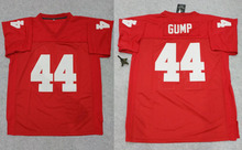 American Football Jersey Forrest Gump #44 Football Jersey Stitched Tom Hanks Movie Red Cheap Throwback Breathable