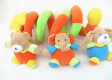 2016 Newborn Baby Rattles Stroller Playing Toys Hanging Infant  Mobile Crib Plush Bear Gift Sale