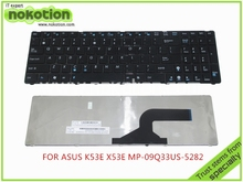 Laptop keyboard for ASUS K53E X53E MP-09Q33US-5282 Keybords warranty 30 days