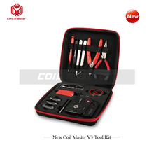 original E Cigarette Accessories Coil Master V3 kit Tool bag All-in-one DIY Tool Vape device rebuild RDA RDTA RTA Tank Atomizer(China)