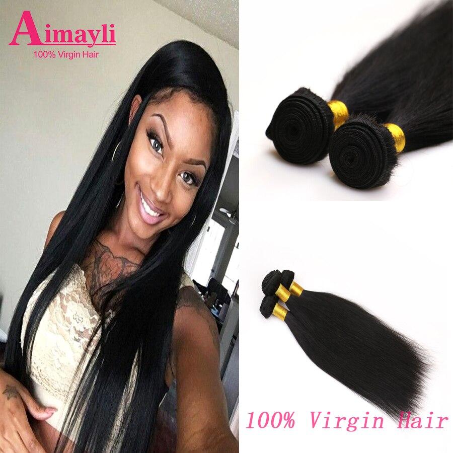 8A Malaysian Straight Hair 4 Bundles Unprocessed Malaysian Virgin Straight Hair Aimayli Company Cheap Human Hair Weave Bundles <br><br>Aliexpress