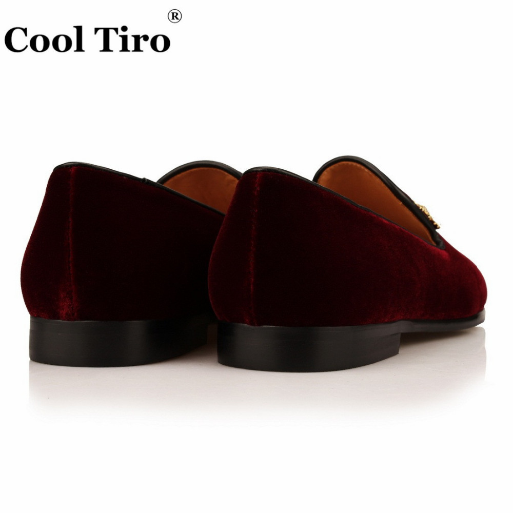 VELOUR BURGUNDY SLIPPERS Loafers (11)