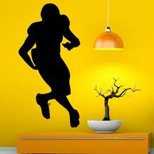 Removable Art Murals American Football Player Wall Decal Sticker Sports Home Decor Vinyl Wall Stickers(China)
