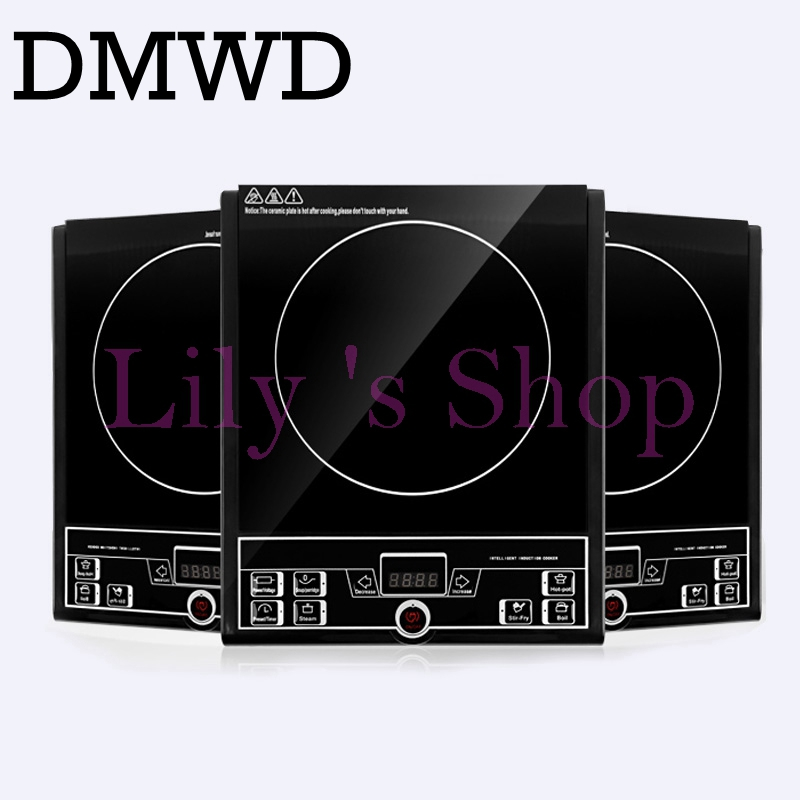 Touch-screen electric magnetic Induction cooker MINI hot pot stove EU US plug household waterproof home use cooking tool 110V<br>