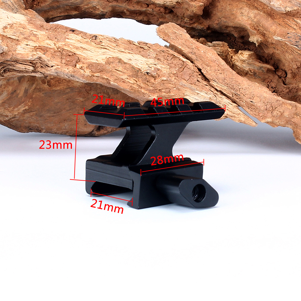 ohhunt High Profile Compact Tactical Red Dot Sight Riser Mount 3 Slots Picatinny Weaver Rail Hunting Scope Mounts Accessories (9)