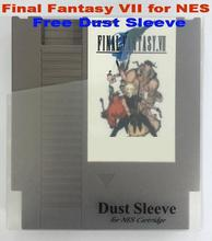 Final Fantasy VII English Edition 72Pins Game Card for NES Console, Free Dust Sleeve(China)