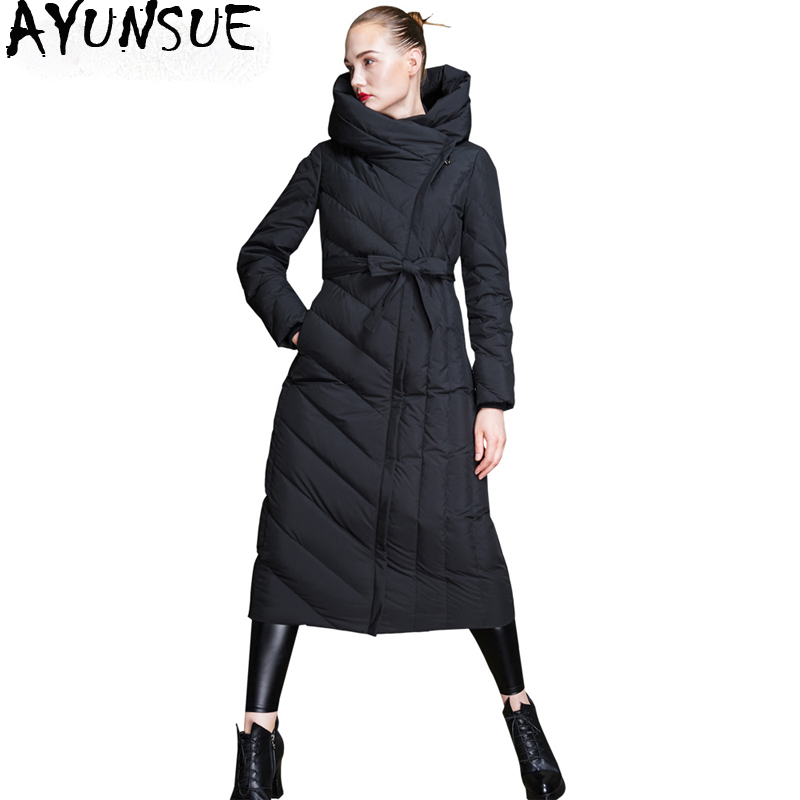 AYUNSUE Winter Coat Women 2018 New Arrival Women's Down Jacket Long Coat Female High Quality Jackets Parka Chaqueta Mujer KJ611