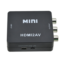 Composite HDMI To RCA AV/CVBS Adapter Mini HDMI2AV Video Converter BOX For PC/PS3/VCR/DVD PAL/MTSC HD 1080P