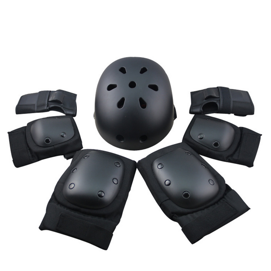 7Pcs Set Sport Safety Helmet Protective Gear Elbow pads Wrist Kneecap Guard for Kids Adult Skateboard Skating Riding Pulseira<br>